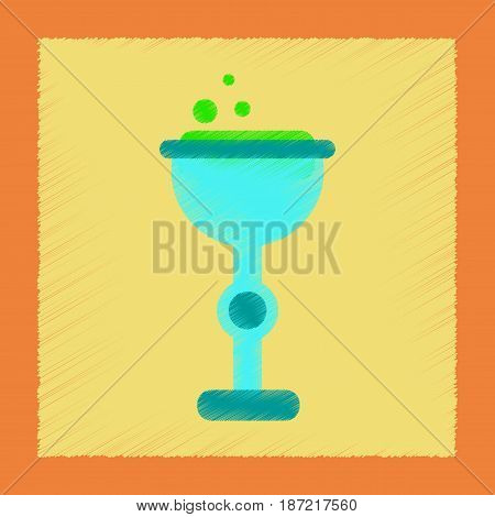 flat shading style icon of cup potion