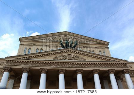The legendary Bolshoi theatre in Moscow, Russia