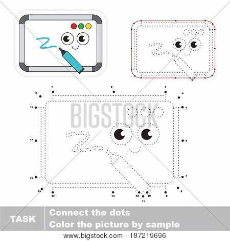 Cute Whiteboards. Dot to dot educational game for kids.