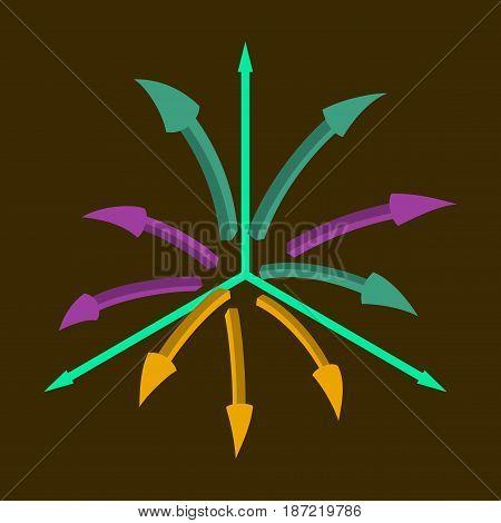 flat icon on stylish background Arrow chart