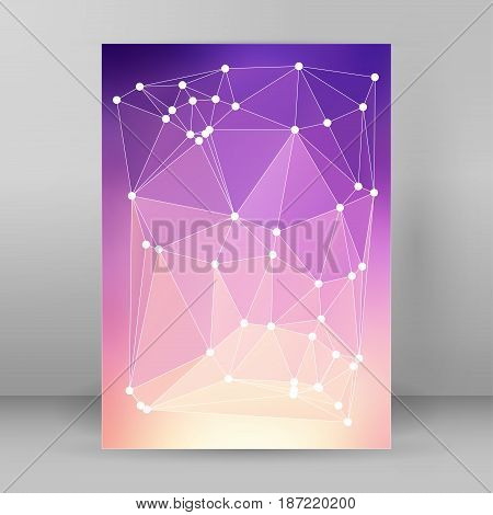 Modern Triangle Background 3D Effect Cover Page Brochure A4 Format28