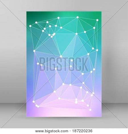 Modern Triangle Background 3D Effect Cover Page Brochure A4 Format30