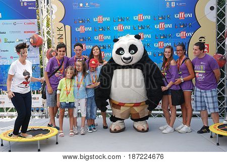Giffoni Valle Piana Sa Italy - July 16 2011 : Cast Movie Kung Fu Panda 2 at Giffoni Film Festival 2011 - on July 16 2011 in Giffoni Valle Piana Italy