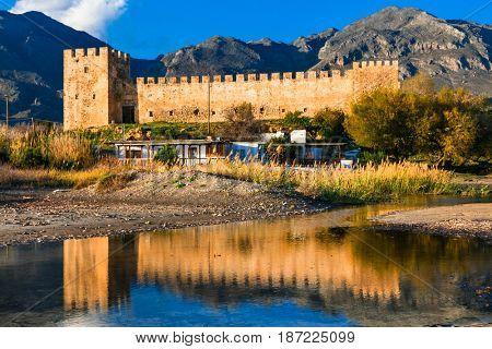 Frangokastello fortress in Crete. Greece