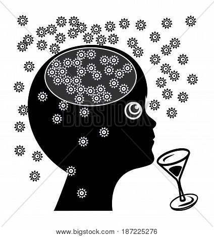 Kids and Alcohol. Alcoholic drinks affects the brain of children