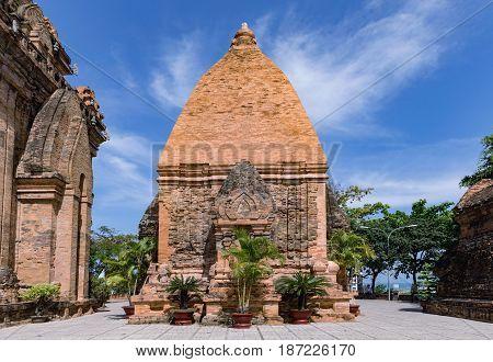 Po Nagar in Nha Trang Vietnam. A view of the Po Nagar Cham Towers.