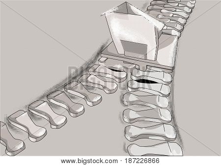 merger. Zip fastener as bussines symbol. 10 EPS