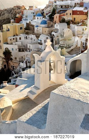 Santorini Oia village Cyclades Greece, Aegean Sea