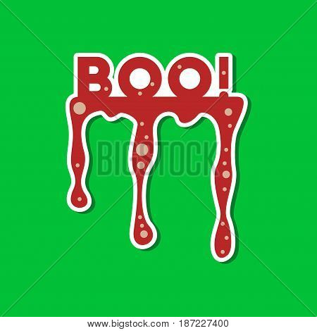 paper sticker on stylish background of halloween boo
