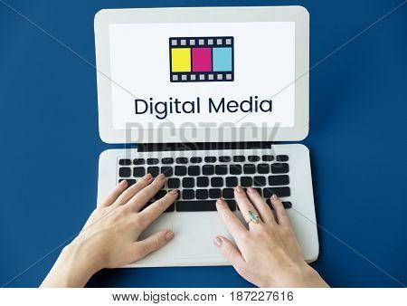 Movie Cinema Film Digital Media Word Graphic
