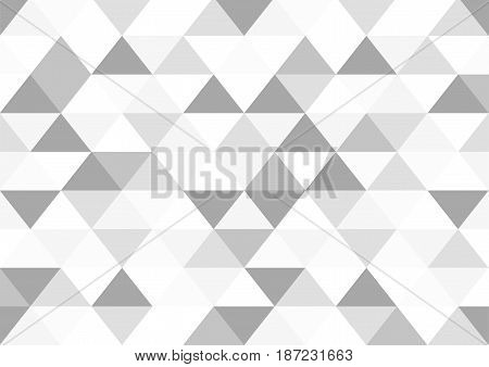 Seamless Grayscale Triangle Pattern Textured Background