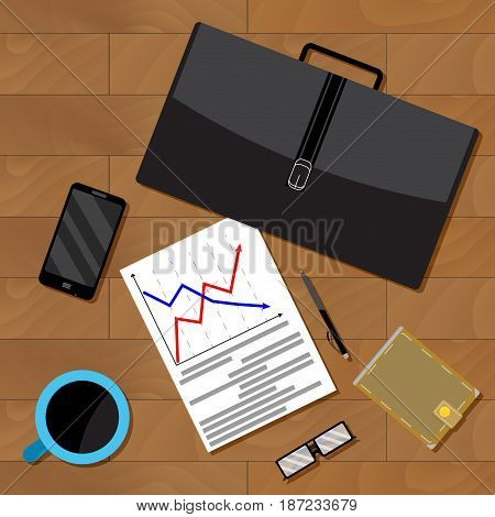 Economist jobs data analysis. Data analysis and research data for business analysis vector illustration