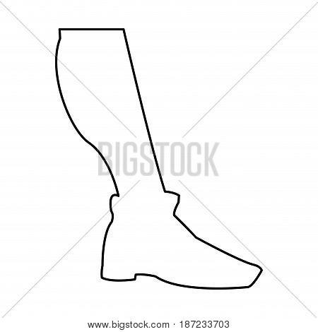 silhouette leg shoe sport player vector illustration