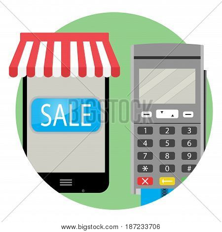Online payment and purchase icon app. Online shopping and vector online payment online purchase icon illustration