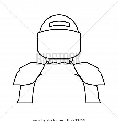 american footbal shoulder pads helmet uniform vector illustration