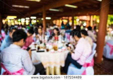 Abstract blur people in party sociability lifestyle concept