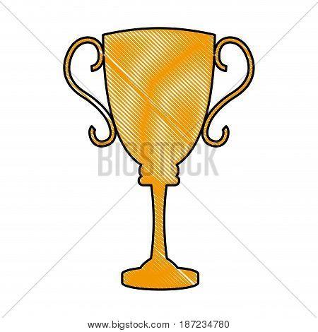 drawing trophy award sport winner element vector illustration