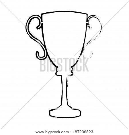 trophy award sport winner element vector illustration
