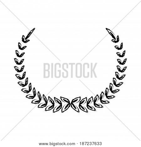 laurel wreath winner sport decoration vector illustration