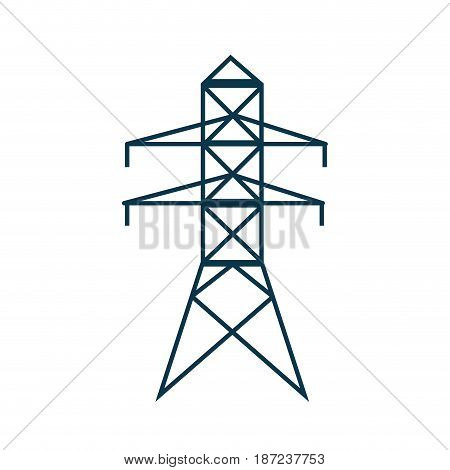 electricity power tower pyllon image vector illustration
