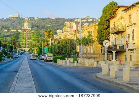German Colony At Sunrise, In Haifa