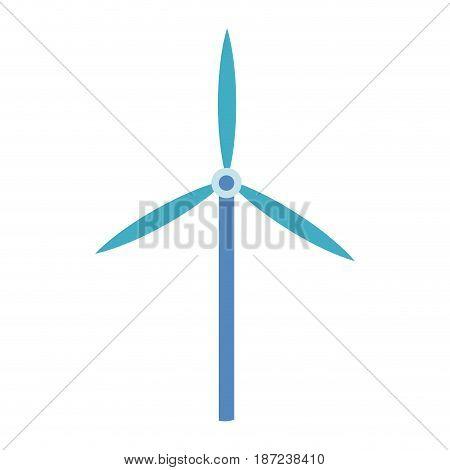 wind turbine tower energy recycle design vector illustration