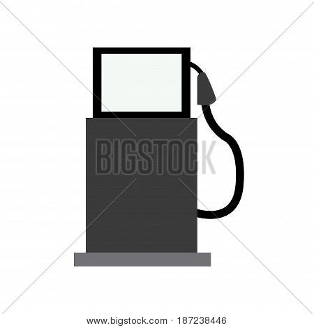 gasoline pump station full ecological image vector illustration
