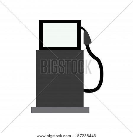 gasoline pump station full ecological image vector illustration