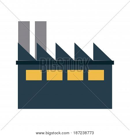industrial building thermal hydro power energy vector illustration