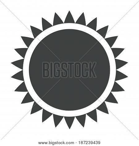 sun solar energy environmental renewable pictogram vector illustration