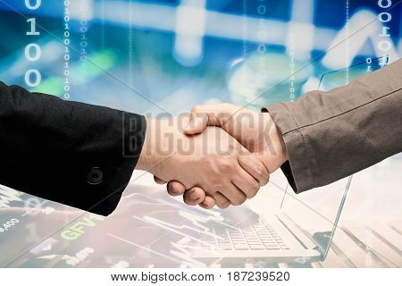 businessmen hand shake for business partnership concept