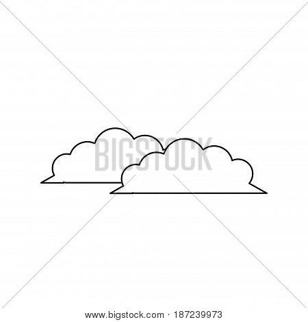 cloud nature weather climate environment line vector illustration