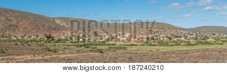 A panoramic view of Zoar a village in the Western Cape Province