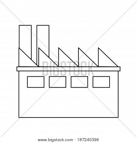 industrial building thermal hydro power energy line vector illustration