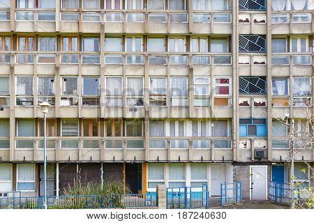 Council Flat Housing Block In East London
