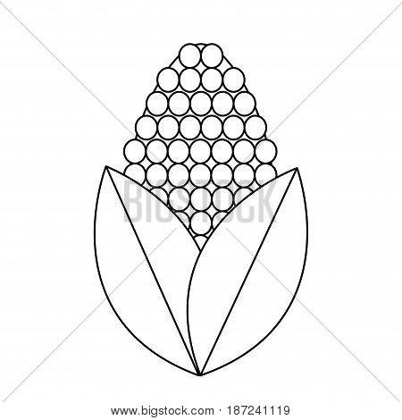 corn bioful alternative energy ethanol line vector illustration