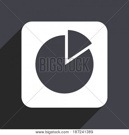 Chart flat design web icon isolated on gray background