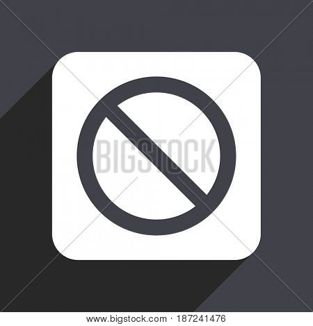 Access denied flat design web icon isolated on gray background