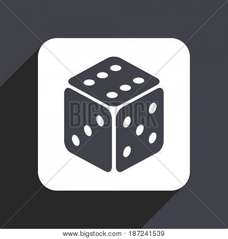 Game flat design web icon isolated on gray background