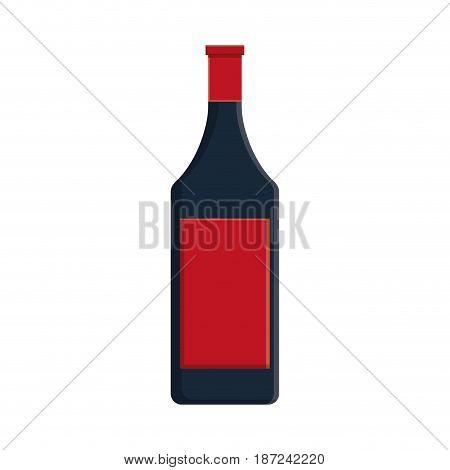 wine bottle icon over white background. vector illutration
