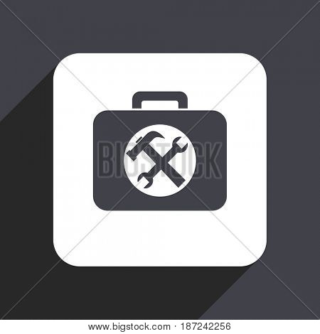Toolkit flat design web icon isolated on gray background