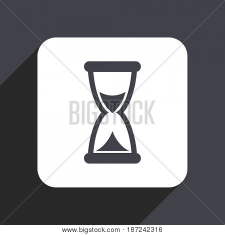 Time flat design web icon isolated on gray background
