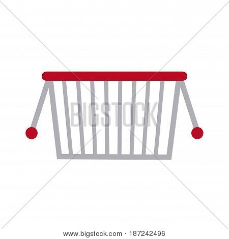 drawing basket shopping marketing commerce vector illustration