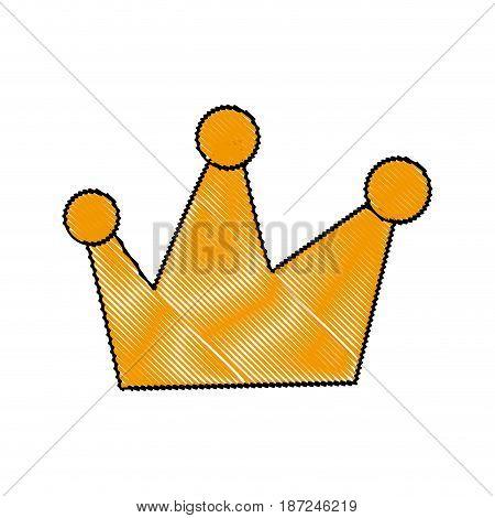 cartoon crown royal fairy tale emblem vector illustration