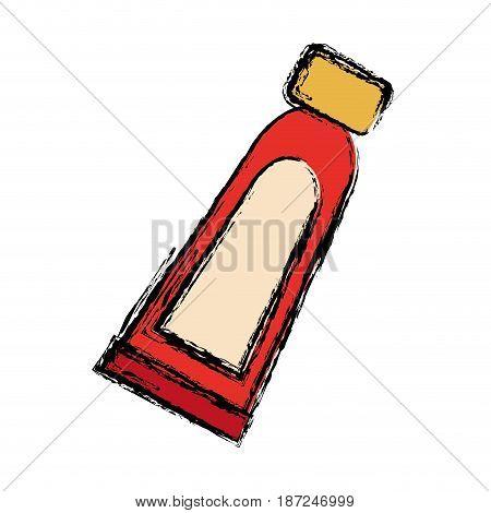 facial cream bottle icon over white background. vector illustration