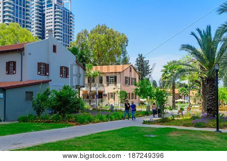 Scene Of The Sarona Compound, In Tel-aviv