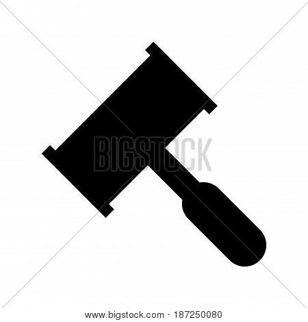 law hammer icon over white background. vector illustration