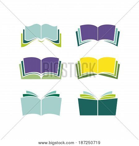 vector book icon logo collections, vector eps ready