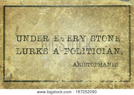 Lurks Politician Aristophanes