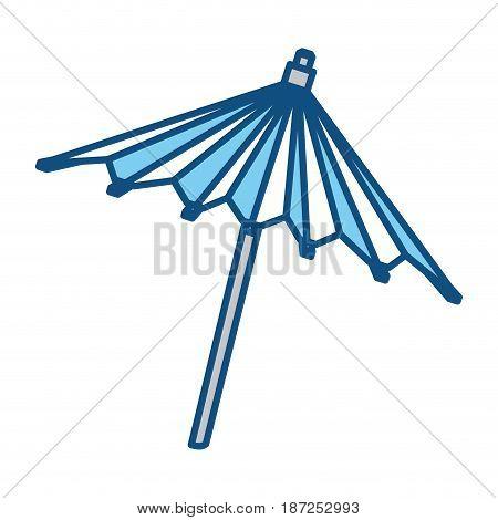 Umbrella cocktail decoration icon vector illustration graphic design